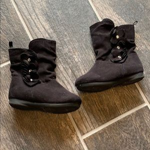 Little girls black boots